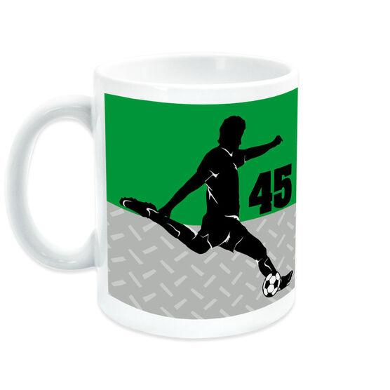 Soccer Coffee Mug Personalized 2 Tier Guy