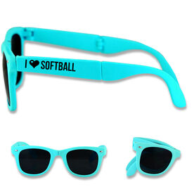 Foldable Softball Sunglasses I Heart Softball