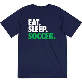 Soccer Short Sleeve Performance Tee - Eat. Sleep. Soccer.