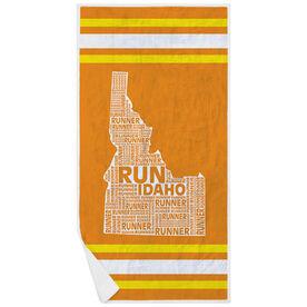 Running Premium Beach Towel - Idaho State Runner