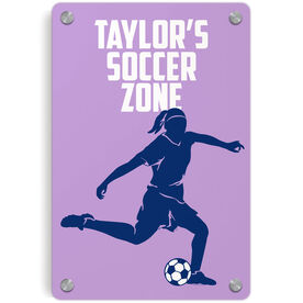 Soccer Metal Wall Art Panel - Personalized Soccer Zone