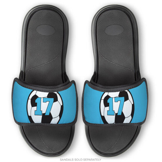 Soccer Repwell® Sandal Straps - Soccer Ball with Number