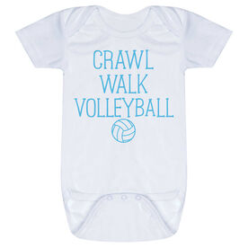 Volleyball Baby One-Piece - Crawl Walk Volleyball