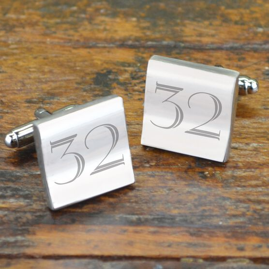 Sport Cufflinks Custom Number