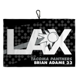 Lacrosse Bag Towels Personalized LAX with Dots Pattern
