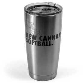 Softball 20 oz. Double Insulated Tumbler - Personalized Eat Sleep Softball