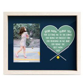 Softball Premier Frame - Dear Mom Heart