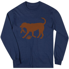 Football Tshirt Long Sleeve Flash The Football Dog