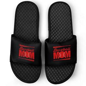 Baseball Black Slide Sandals - Baseball Mom