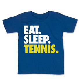 Tennis Toddler Short Sleeve Tee - Eat. Sleep. Tennis.