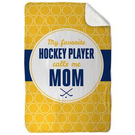 Hockey Sherpa Fleece Blanket My Favorite Player