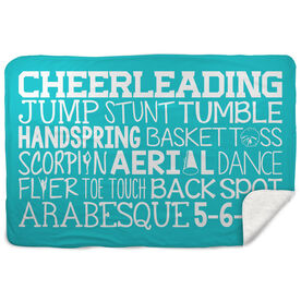 Cheerleading Sherpa Fleece Blanket - Cheer Words