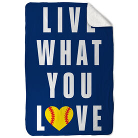 Softball Sherpa Fleece Blanket - Live What You Love