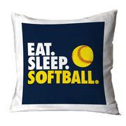 Softball Decorative Pillow - Eat Sleep Softball