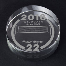 Volleyball Personalized Engraved Crystal Gift - Custom Team Award