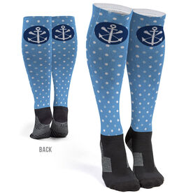 Girls Lacrosse Printed Knee-High Socks - Lax Anchor
