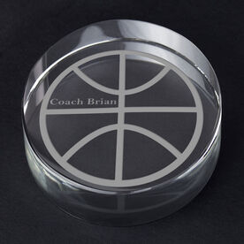 Basketball Personalized Engraved Crystal Gift - Custom Ball