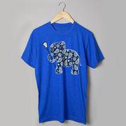 Girls Lacrosse Tshirt Short Sleeve Lax Elephant