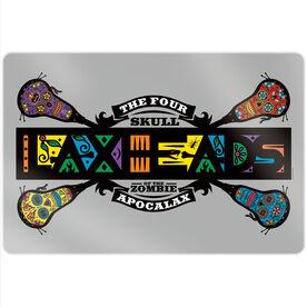 """Guys Lacrosse 18"""" X 12"""" Aluminum Room Sign - Laxheads Apocalax"""