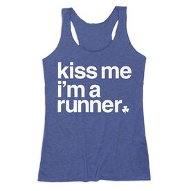 Women's Everyday Tank Top - Kiss Me I am a Runner Saying