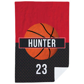Basketball Premium Blanket - Personalized With Stripe