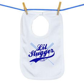 Softball Baby Bib Lil Slugger Boy