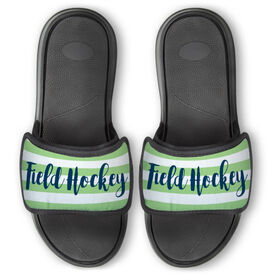 Field Hockey Repwell® Slide Sandals - Field Hockey With Stripes