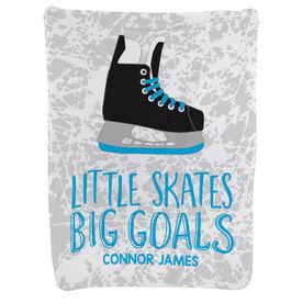 Hockey Baby Blanket - Little Skates Big Goals