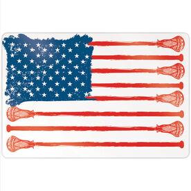 "Guys Lacrosse 18"" X 12"" Aluminum Room Sign - American Flag"