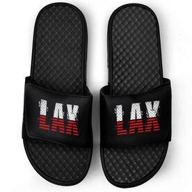 Lacrosse Black Slide Sandals - USA Stripes