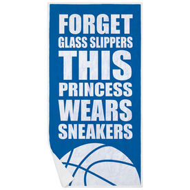 Basketball Premium Beach Towel - Forget Glass Slippers This Princess Wears Sneakers