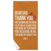 Cheerleading Premium Beach Towel - Dear Dad