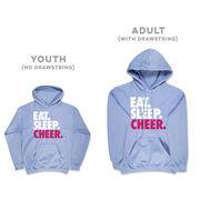 Cheerleading Hooded Sweatshirt - Eat Sleep Cheer