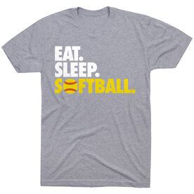 Softball T-Shirt Short Sleeve Eat. Sleep. Softball.