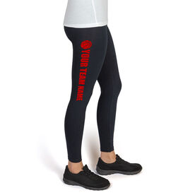 Basketball High Print Leggings Team Name