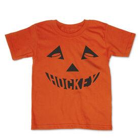 Hockey Toddler Short Sleeve Tee - Hockey Pumpkin Face