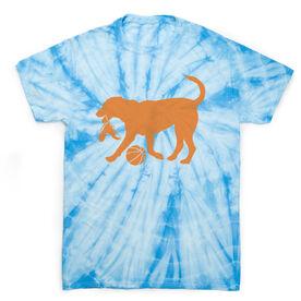 Basketball Short Sleeve T-Shirt - Basketball Dog Tie Dye