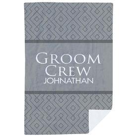 Personalized Premium Blanket - Groom Crew