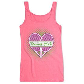 Tennis Women's Athletic Tank Top Racket Heart