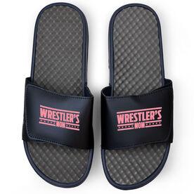 Wrestling Navy Slide Sandals - Wrestlers Mom