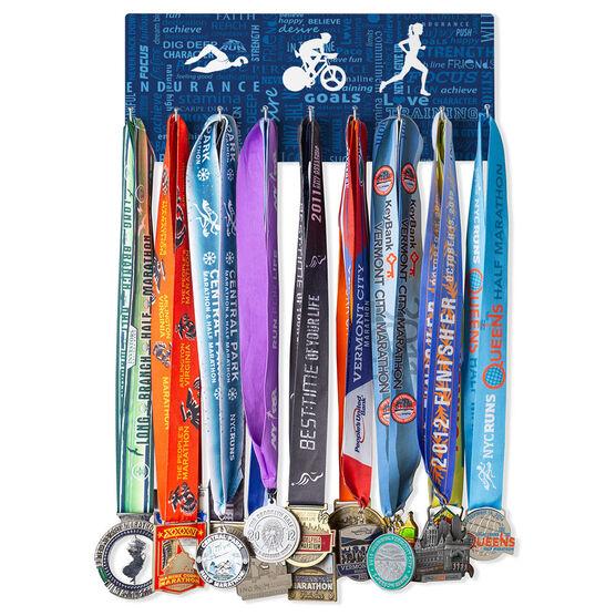 Triathlon Hooked on Medals Hanger - Tri Inspiration Female