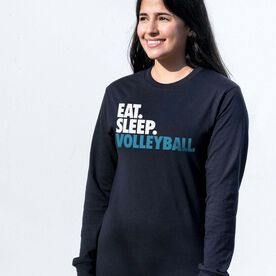 Volleyball Tshirt Long Sleeve - Eat. Sleep. Volleyball