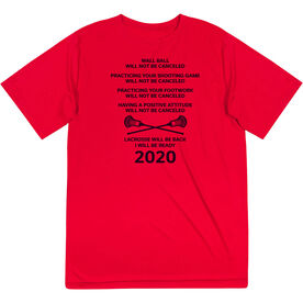 Guys Lacrosse Short Sleeve Performance Tee - Lacrosse Will Be Back 2020 ($5 Donated to the American Red Cross)