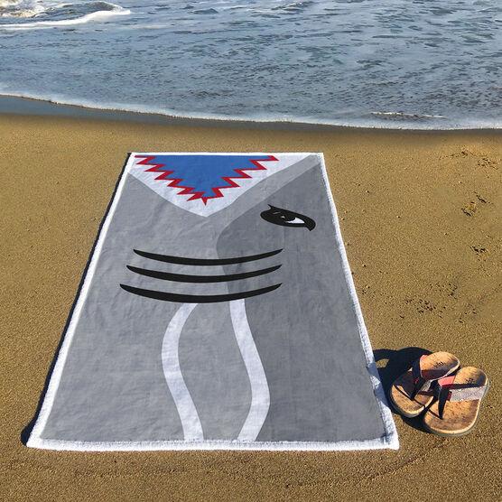 Swimming Premium Beach Towel - Shark Attack