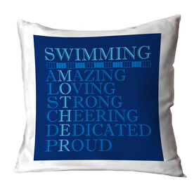 Swimming Throw Pillow - Mother Words