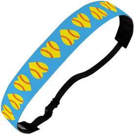 Softball Julibands No-Slip Headbands - Softball Hearts