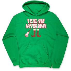 Guys Lacrosse Hooded Sweatshirt - Lacrosse's My Favorite