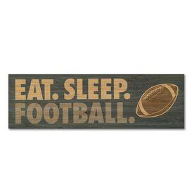 """Football 12.5"""" X 4"""" Printed Bamboo Removable Wall Tile - Eat Sleep Football"""