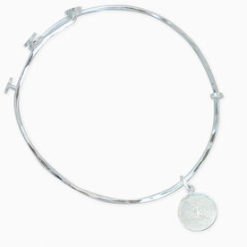 Livia Collection Sterling Silver Matte Runner Girl Adjustable Bangle