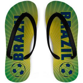 Soccer Flip Flops Brazil